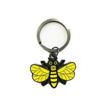 Load image into Gallery viewer, Enamel Bee Keyring