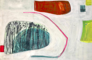 Pink Line Protects by Suzanne Bethell <br>Painting