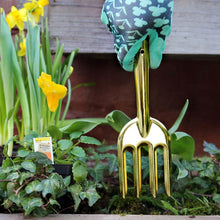 Load image into Gallery viewer, Brass Garden Fork & Trowel