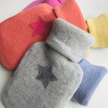 Load image into Gallery viewer, Pure Cashmere Mini Star Hot Water Bottle <br>by Chloë Haywood