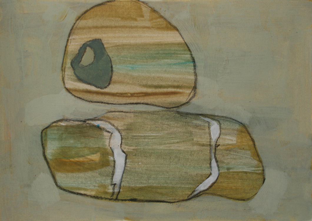 Stone Paintings on Paper by Christopher Rainham <br>Painting