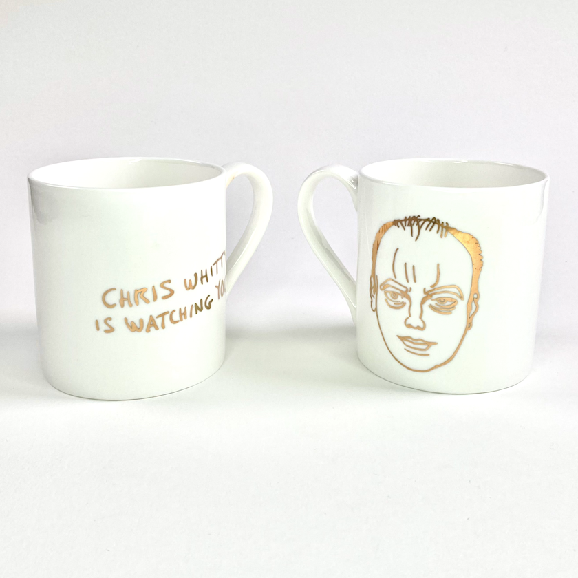 Grayson's Art Club: Chris Whitty is Watching You! Mug