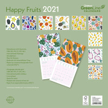 Load image into Gallery viewer, Happy Fruits GreenLine 2021 Wall Calendar