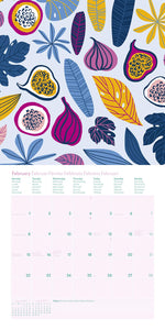 Happy Fruits GreenLine 2021 Wall Calendar
