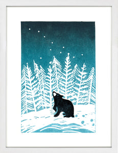 Stargazey Bear by Jo Wright <br>Limited Edition Print