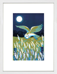 Owl on the Ees by Jo Wright <br>Limited Edition Print