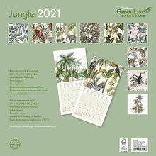 Load image into Gallery viewer, Jungle GreenLine 2021 Wall Calendar