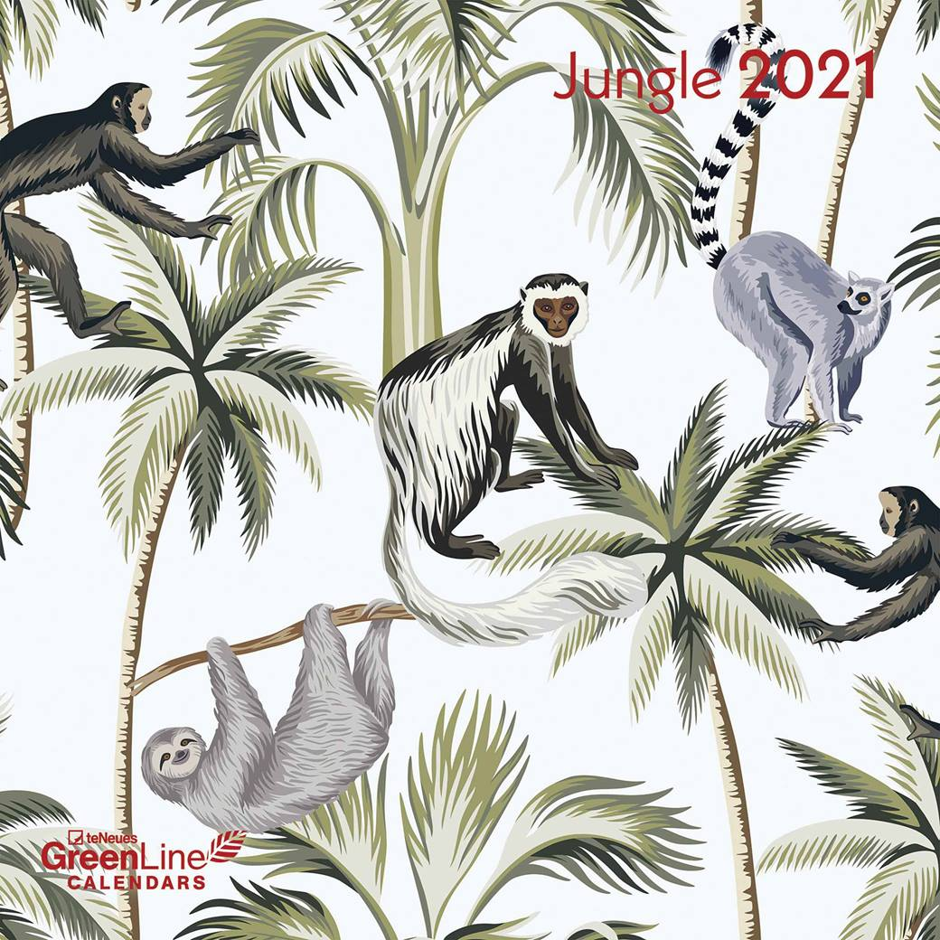 Jungle GreenLine 2021 Wall Calendar