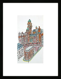 Palace Hotel, Manchester by Kathryn Edwards <br>Limited Edition Print