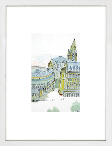 St. Peter's Square, Manchester by Kathryn Edwards <br>Limited Edition Print