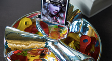 Load image into Gallery viewer, You-Snack Silver Bowl & Music Amplifier