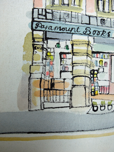 Paramount Books, Manchester by Kathryn Edwards <br>Painting