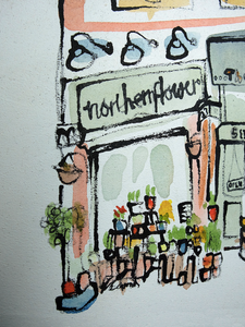 Northern Flower, Manchester by Kathryn Edwards <br>Painting