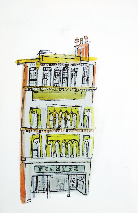Forsyths Music Shop, Manchester by Kathryn Edwards <br>Painting