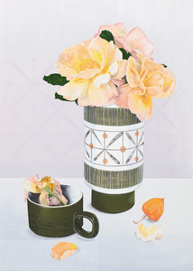 Langley Sycamore Vase with Roses by Helen Kirkpatrick <br>Painting