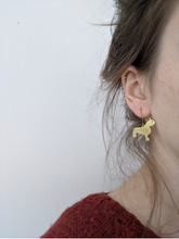 Load image into Gallery viewer, Grayson's Art Club: Chris Whitty's Cat - Brass Silhouette Earrings