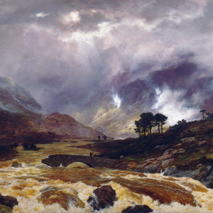 Greetings Card - Spate in the Highland