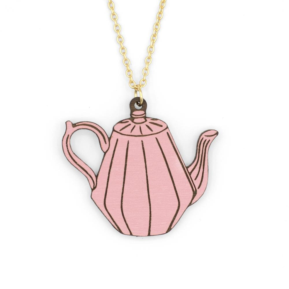 Pink Teapot Necklace