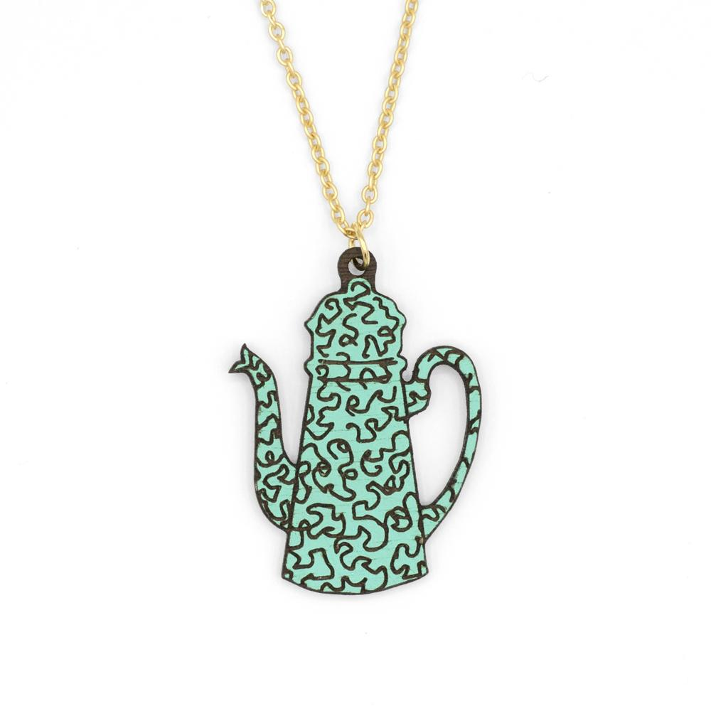 Retro Teapot Necklace