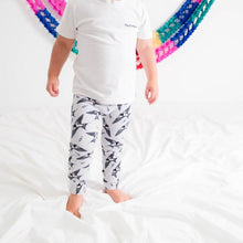 Load image into Gallery viewer, Organic Grey Swallow Baby & Child Leggings <br>by Tutti Frutti Clothing