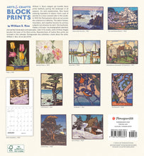 Load image into Gallery viewer, Arts & Crafts Block Prints 2021 Wall Calendar