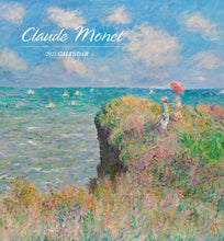 Load image into Gallery viewer, Claude Monet 2021 Mini Wall Calendar
