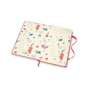 Moomin Ruled Notebook - Red