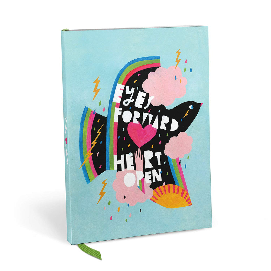 Eyes Forward Heart Open Notebook