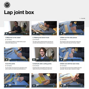 Lap Joint Box Project Kit <br>by Tom Trimmins