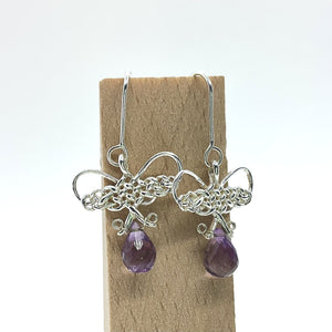 Amethyst Butterfly Earrings by Kylie Yeung