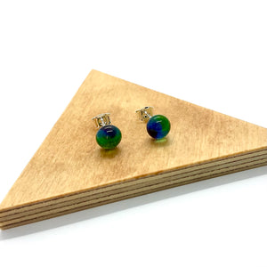 Fused Glass Studs By Charlotte Verity
