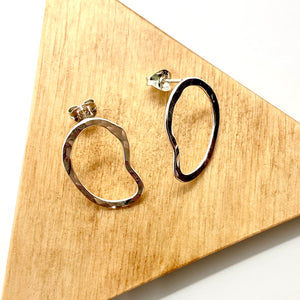 Medium Silver Rope Stud Earrings By Gemma Scully