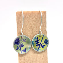 Load image into Gallery viewer, Hand Painted Medium Circle Drop Earrings By Jenny Rothwell