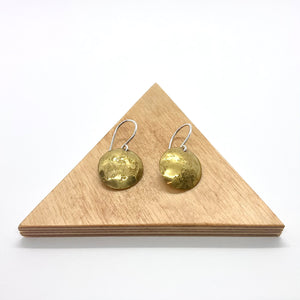 Brass Circle Earrings By Rebecca Beyond