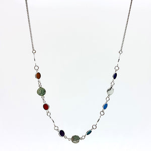 Hammered Disc Chain Necklace By Helen Tiffany