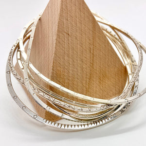 Textured Bangle By Rebecca Beyond
