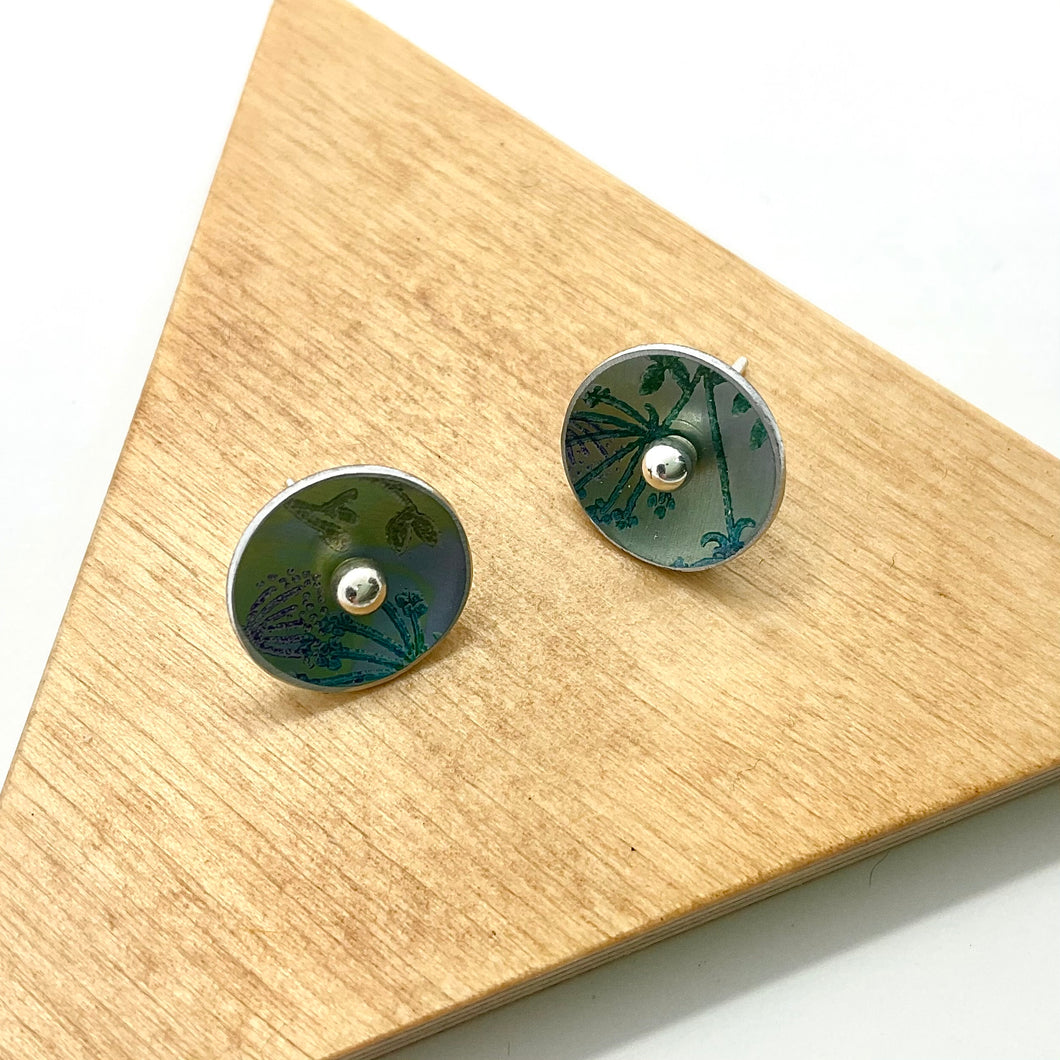 Hand Painted Small Ball Stud Earrings By Jenny Rothwell