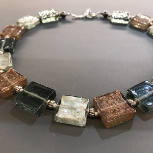 Glass Squares Necklace by Anna Sixsmith