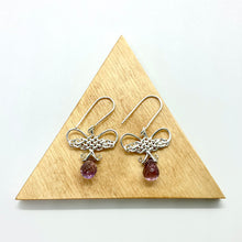 Load image into Gallery viewer, Amethyst Butterfly Earrings by Kylie Yeung