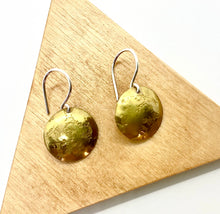 Load image into Gallery viewer, Brass Circle Earrings By Rebecca Beyond