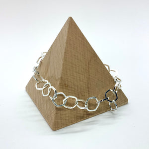 Silver Honeycomb Bracelet By Stephanie Mann