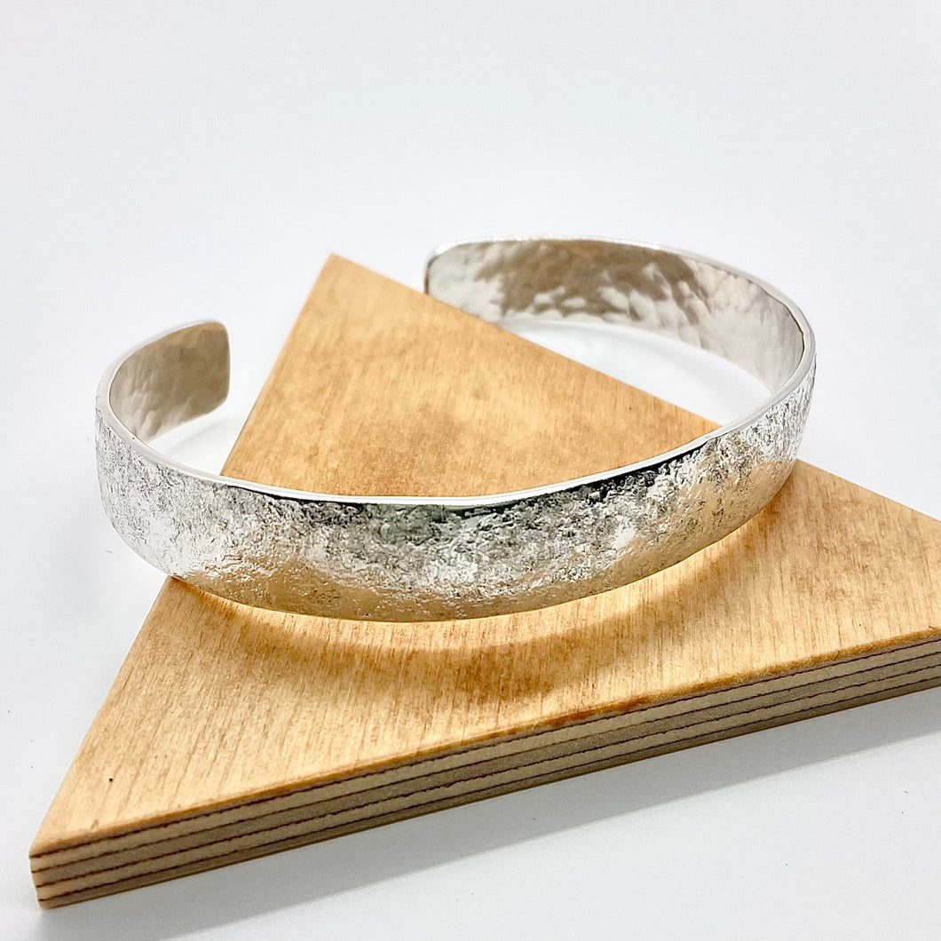 Hammered Cuff Bracelet By Rebecca Beyond