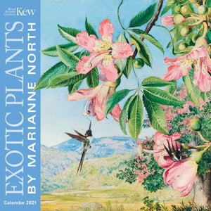 Exotic Plants by Marianne North Wall Calendar 2021