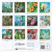 Load image into Gallery viewer, Exotic Plants by Marianne North Wall Calendar 2021