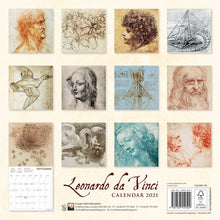 Load image into Gallery viewer, Leonardo Da Vinci Wall Calendar 2021