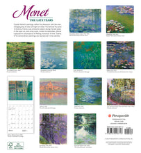 Load image into Gallery viewer, Monet: The Late Years 2021 Wall Calendar