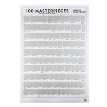 Load image into Gallery viewer, 100 Masterpieces - Scratch Poster