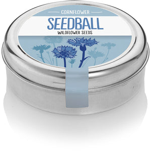Seedball Cornflower Tin
