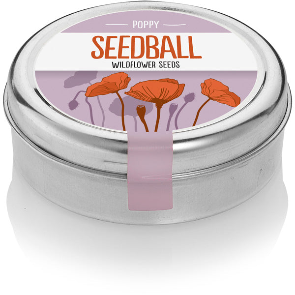 Seedball Poppy Tin