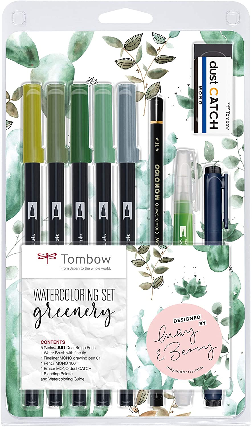 Watercolouring Set Greenery